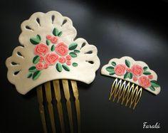 Peina  y peineta floral