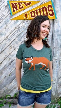 Womens Knit Fox tee / tshirt by NewDuds on Etsy, $24.00    One of my favorite Ts! 'Cause I'm a foxy knitter!