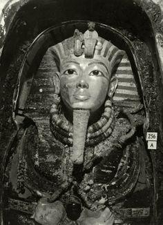Innermost Coffin of Tutankhamun, 1926, by Harry Burton