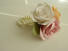 Paper Roses Wrist Corsage £12.00