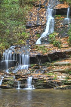 Toms Branch Falls in Deep Creek of the Great Smoky Mountains National Park, near Bryson city, North Carolina