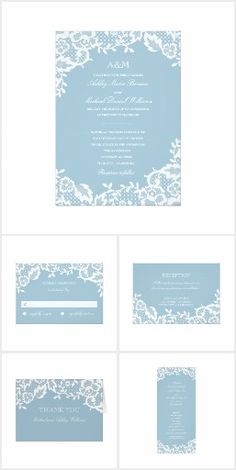 Clic Lace On Blue Wedding Collection