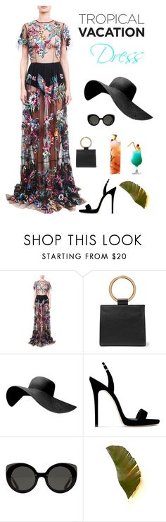 """""""Tropical Beauty"""" by kotnourka ❤ liked on Polyvore featuring Zuhair Murad, Edie Parker, Giuseppe Zanotti and Varaluz"""