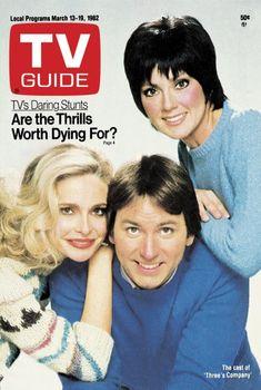 TV Guide March 13, 1982 - Priscilla Barnes, John Ritter and Joyce DeWitt of Three's Company