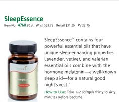 Better Sleep Naturally With Young Living's SleepEssence with essential oils. For more info and to purchase oils go to www. EssentialOilsEnhanceHealth.com