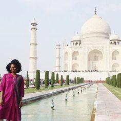 Beautiful. @infashionitrust // Agra India. #travelnoire #agra
