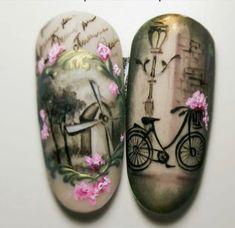 Spring Nail Designs - My Cool Nail Designs Elegant Nail Designs, Nail Designs Spring, Cool Nail Designs, Fancy Nails, Pretty Nails, Vintage Nail Art, Romantic Nails, Plaid Nails, Manicure E Pedicure