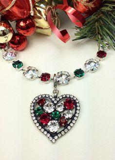 Swarovski Crystal  Designer Inspired  Heart Shaped by CathieNilson