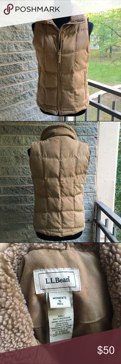LL bean vest Excellent used condition, size small but would probably fit a size medium also because my dress form that it is modeled on is a medium size 6/8 with a 34 inch bust (it would be a tighter fit on a medium) super cozy and warm! Make an offer or bundle two items in my closet and receive a discount ❤️ L.L. Bean Jackets & Coats Vests