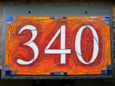 mosaic house number - Buscar con Google