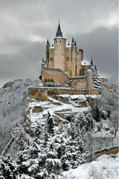 Alcazar Castle Of Segovia Spain.