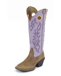 Tony Lama Women's Tan/Lavender  Dakota Boot
