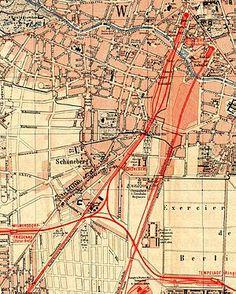 Strecke der Südringspitzkehre in Schoeneberg im Jahr 1893