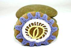 On Sale Marked Down 25% Irish Crochet Stone by Nothingbutstring