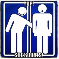 yep she squats