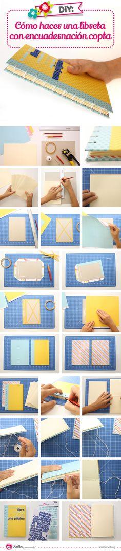 como hacer una encuadernación copta paso a paso #tutorial #encuadernación