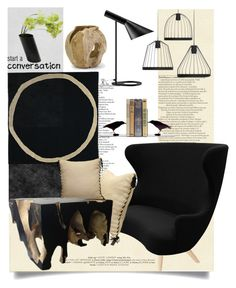 """conversation pieces"" by tiffanysblues ❤ liked on Polyvore featuring interior, interiors, interior design, home, home decor, interior decorating, nanimarquina, Tom Dixon, Dot & Bo and fferrone design"
