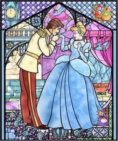 Cross Stitch Pattern Disney Cinderella 8 PDF by Disney Love, Disney Magic, Disney Art, Walt Disney World, Disney Pixar, Disney Animation, Disney Stained Glass, Stained Glass Art, Cross Stitch Kits