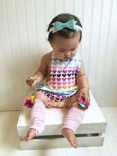 Check out this item in my Etsy shop https://www.etsy.com/listing/271973854/rainbow-sherbert-romper-baby-romper-girl