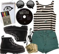 """""""Art & Nirvana"""" by classycoco ❤ liked on Polyvore"""