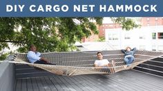 DIY Giant Hammock | Made from a Cargo Net - YouTube