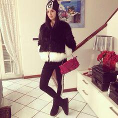 H&M fur Calzedonia leggins  Alexander Wang x h&m beanie #marilenaguadalaxara