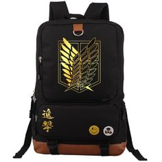 YOYOSHome Anime Attack on Titan Cosplay Daypack Bookbag College Bag... ($37) ❤ liked on Polyvore featuring bags, backpacks, day pack rucksack, backpack bags, daypack bag, rucksack bag and animal backpacks