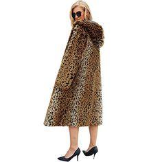 Faux Fleece Langarm Mäntel Jacken, Frauen Winter Leopard-Print Langarm-dick mit Kapuze Faux Pelzmantel Outwear Sexy Mantel: Amazon.de: Bekleidung Fur Jacket, Mantel, Midi Skirt, Amazon, Skirts, Fashion, Fur, Cowl, Jackets