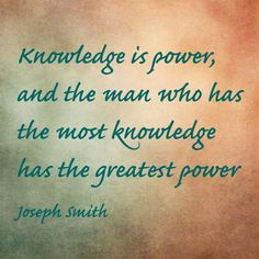 Lds Quote by Joseph Smith.    Find more LDS inspiration at: www.MormonLink.com