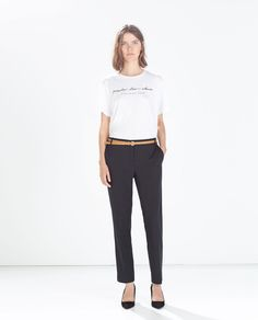 ZARA - WOMAN - CROPPED TROUSERS WITH BELT