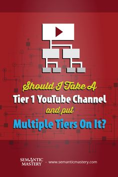 Should I Take A Tier 1 YouTube Channel And Put Multiple Tiers On It? Know How This #SEO Is Done At ...... via http://semanticmastery.com/should-i-take-a-tier-1-youtube-channel-and-put-multiple-tiers-on-it/ This is a question from an attendee that asked at one of our Free weekly Hump Day Hangouts here http://semanticmastery.com/humpday.