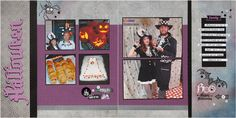 Halloween layout CTMH - #ctmhNevermore