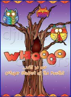 owl clip art, student of the month, Halloween clip art