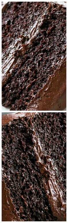 Chocolate Blackout Cake ~ A moist, rich, triple layer chocolate blackout cake with a chocolate cream cheese frosting... Warning: for extreme chocolate lovers only!