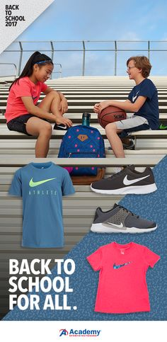 The ultimate one-stop shop for all your favorite athletic brands. From uniform-friendly shoes and backpacks to athletic apparel and sneakers, get the lowest prices on all things back-to-school. Best brands at the lowest prices -- only at Academy® Sports + Outdoors.