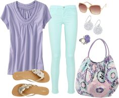 """Soft Summer Pastels"" by fun-to-wear on Polyvore"