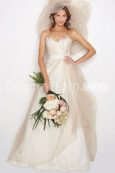 Gorgeous Empire Sweetheart Floor-Length Chapel Appliques Wedding Dresses