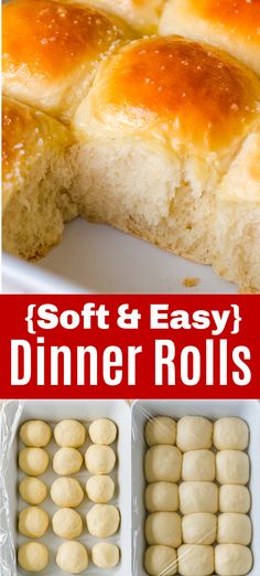 Soft Dinner Rolls are the perfect companion to any main dish. There is nothing like fluffy, warm bread rolls. Irresistibly Soft Dinner Rolls are freezer-friendly, make-ahead, and easy with just 6 ingredients. These are holiday-worthy bread rolls! They are easy, have simple ingredients, and are approachable for any cook. Keep this recipe in your back pocket and soon it will become second nature. #dinnerrolls #easydinnerrolls #bread #softdinnerrolls #natashaskitchen #homemadedinnerrolls Homemade Dinner Rolls, Dinner Rolls Recipe, Bread Recipes, Cooking Recipes, Raspberry Rhubarb, Recipe List, Muffin Bread, Easy Garden, Bread Rolls