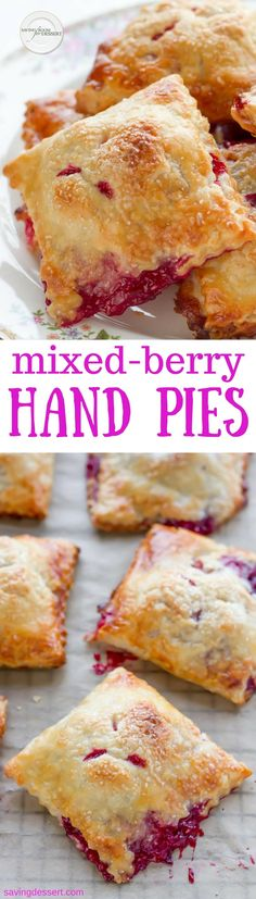 Mixed Berry Hand Pies with your favorite berries.
