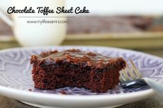 Chocolate Toffee Sheet Cake