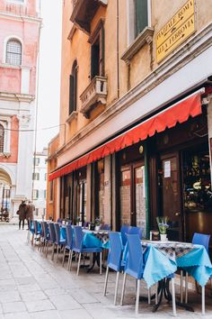 Quiet morning street cafe