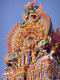 Temple de Mînkshî, Tamil Nadu,  Inde