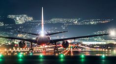 Azul Obscura captures a view of aircrafts that often goes unseen by ordinary passengers. Standing on the runway, the Osaka-based photographer documents the