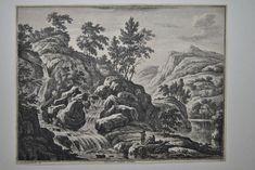 Johann Franz Ermels Flusslandschaft Radierung gest. von G. W. Knorr um 1740