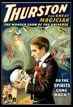 Magician Howard Thurston, successful American illusionist and quirky inventor. Read about his patents and his fierce rivalries at MagicTricks.com