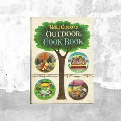Betty Crocker's Outdoor Cook Book | 1960s Vintage Grill Barbecue Picnic Cookbook | Retro Family Recipes Tips and Presentation | 60s Kitchen