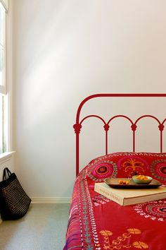 Wrought Iron Headboard (That Bedspread!)