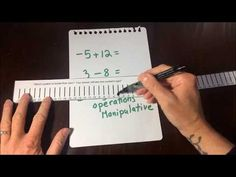 If your students need help with adding and subtracting integers, the manipulative in this post will help. I developed it as mart of my graduate thesis and it decreased student error on integer operations by Integers Activities, Math Manipulatives, Math Activities, Teaching Numbers, Teaching Math, Teaching Ideas, Math Teacher, Math Classroom, Algebra Equations