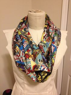 Marvel Avengers Comic Book Superhero Infinity Scarf by InfinitySteam on Etsy https://www.etsy.com/listing/178468716/marvel-avengers-comic-book-superhero