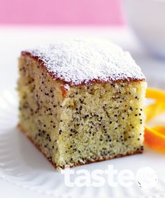 Orange poppyseed cake Delicious, light and crumbly, this orange poppyseed cake is a breeze to make. (Recipe by Kim Coverdale, photography by Ben Dearnley)